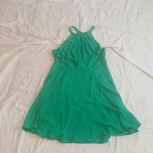 EXPRESS Summer Green Dress Slit Back